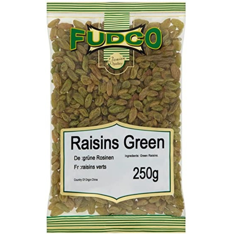Fudco Raisins Green Tray 250g